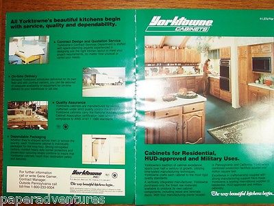 1986 YORKTOWNE Kitchen Cabinets for HUD Homes,MILITARY Housing 80s Decor Catalog