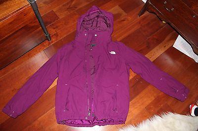 NORTHFACE Women's purple ski jacket - size large used ONCE