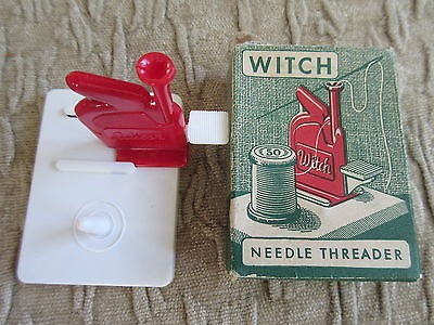 Old Vintage Witch Needle Threader in Box Sewing