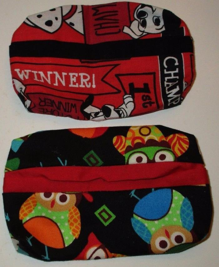 Tissue Covers, Fabric Purse Tissue Holder, Set of 2 Covers, Handmade, Valentines