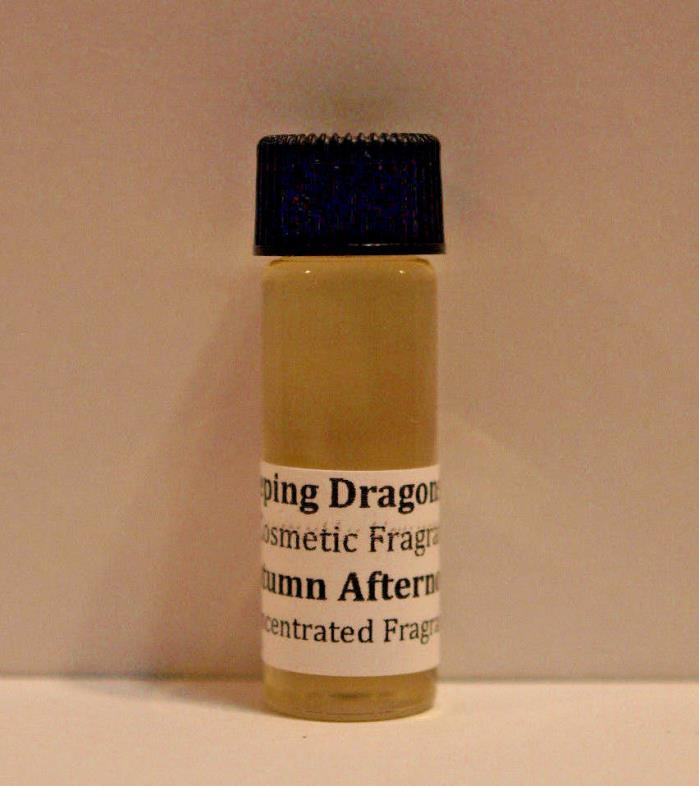 Autumn Afternoon Fragrance Oil, concentrated body oil perfume, cosmetic scent
