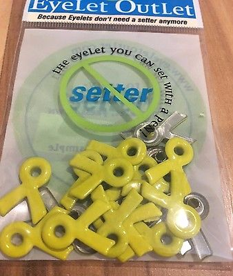 Eyelet Outlet Yellow Ribbon Quicklet Eyelets