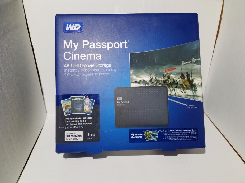 Western Digital My Passport Cinema   (1TB) New Sealed