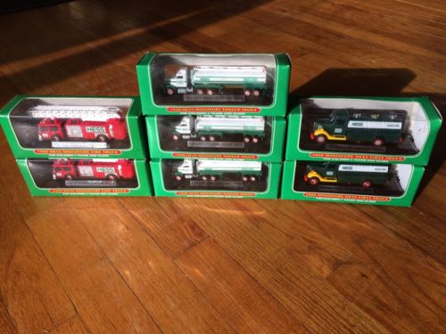 Miniature Hess Trucks Lot