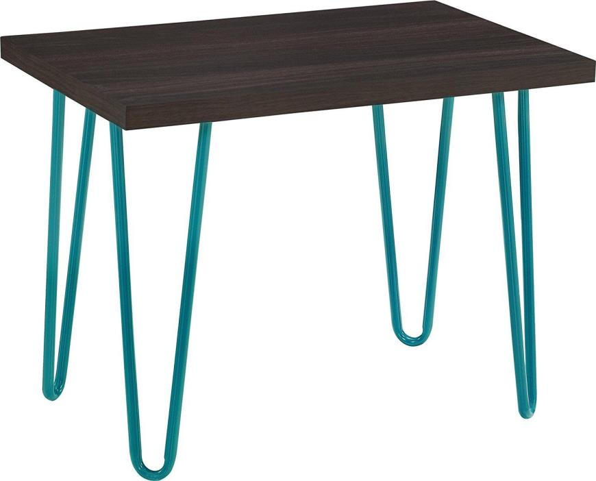Retro Kitchen Step Stool Seat Chair Vanity Entryway Office Bar Teal Espresso