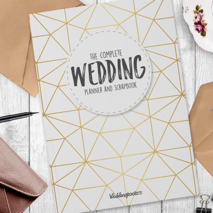 Wedding Planner Book- Wedding planner and organizer gold gemometric design