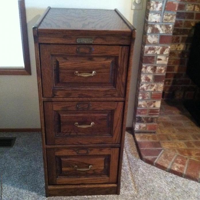 Oak File Cabinet