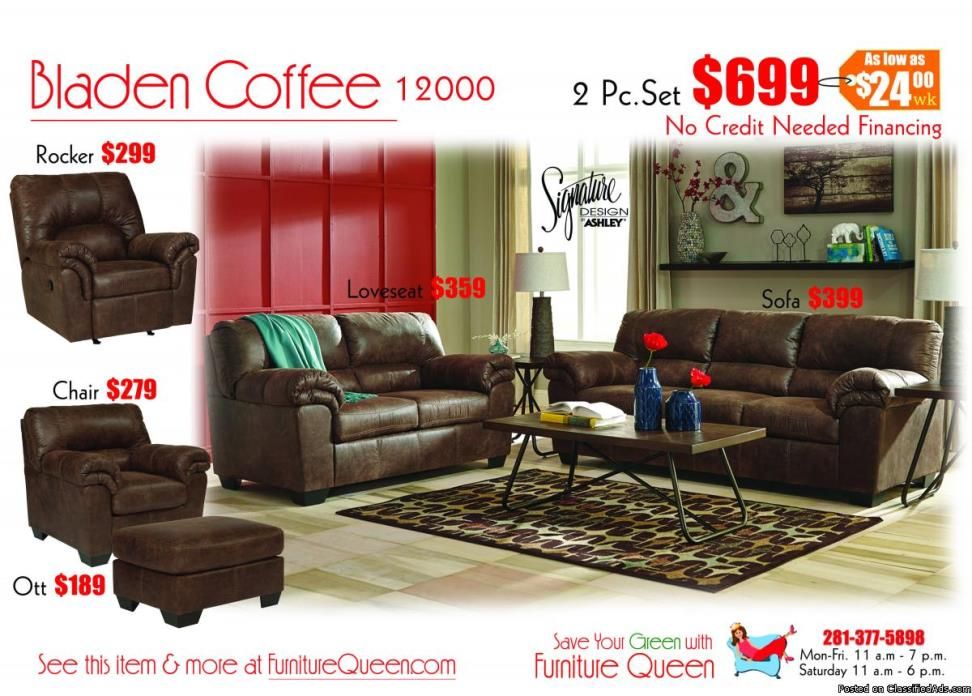 Bladen 2pc sofa set by Ashley Furniture