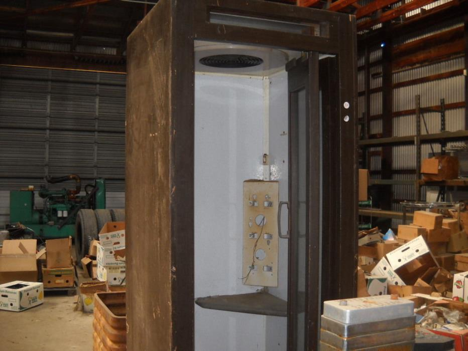Old Wooden Phone  Booth w/Folding Glass Door