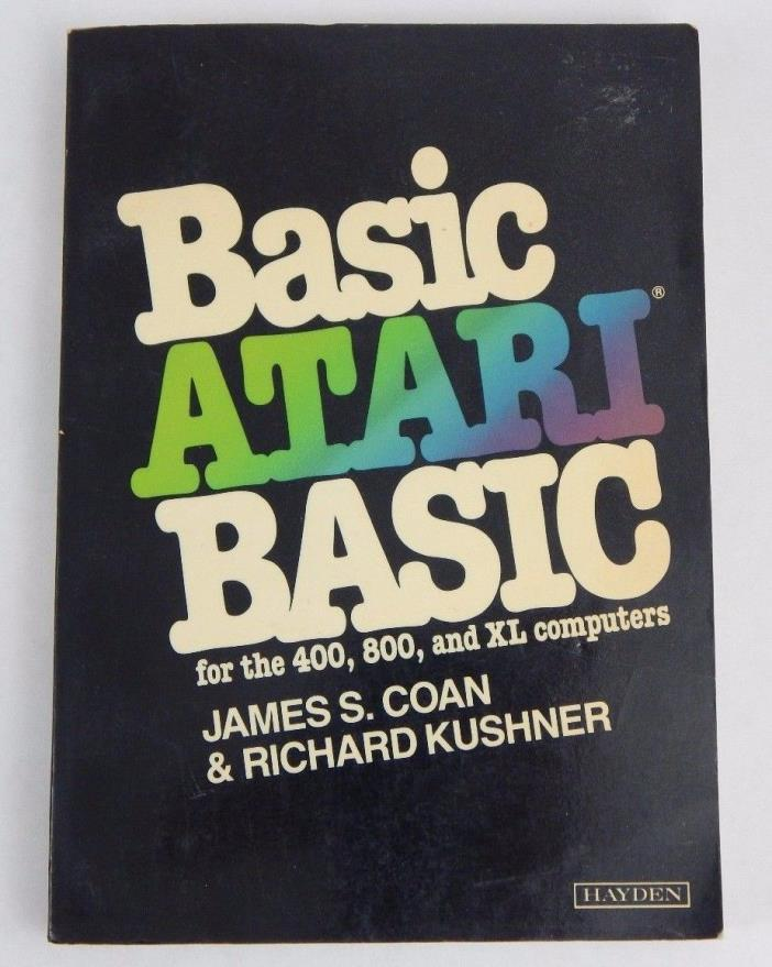 BASIC Atari Basic - Manual for Atari 400/800/XL PC computer programming book