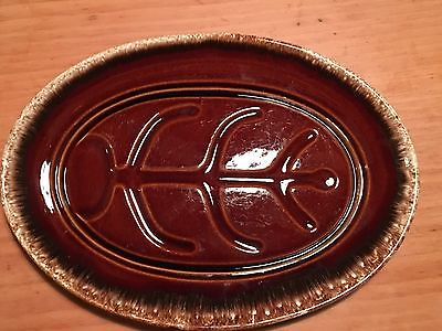 VINTAGE HULL POTTERY -  BROWN DRIP PLATTER
