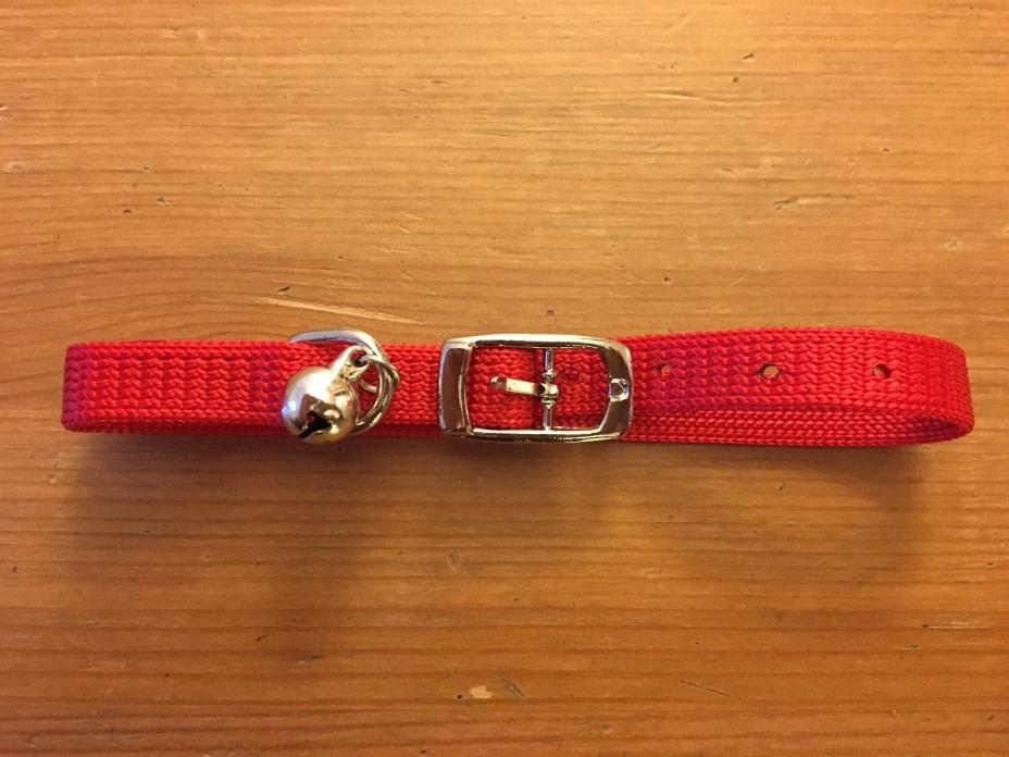 NEW Red Pet Collar w. Bell for Cat Kitten Puppy Dog Adjustable 13