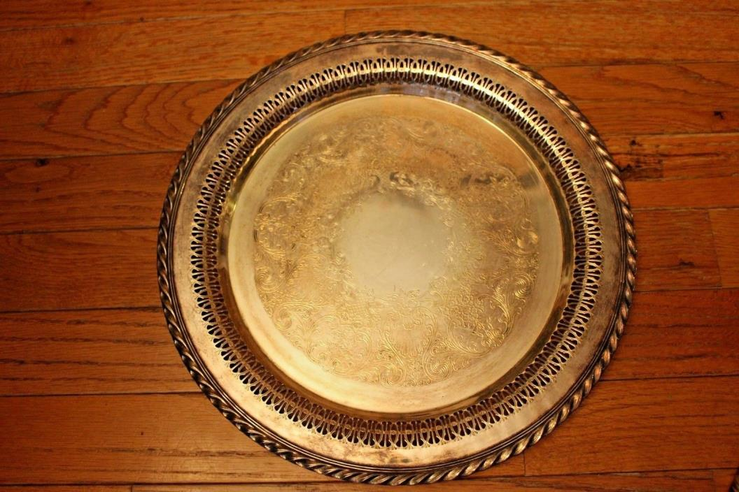 WM Rogers silverplate platter 4170