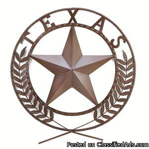 Texas Star Wall Plaque - Discount Promo, FREE shipping