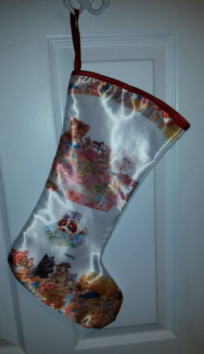 Vintage Giordano Kittens & Puppies Christmas Stocking