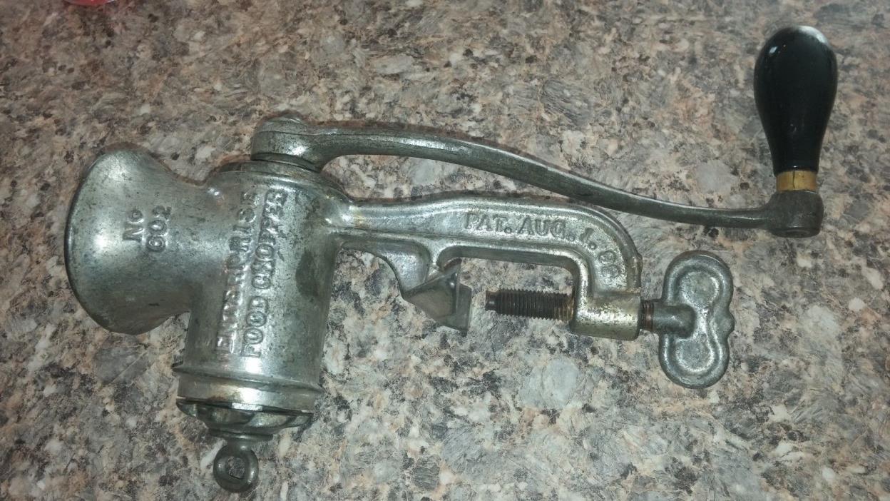 Antique Enterprise Food Chopper w/ Nut Cutter No. 602 Pat. Aug. 1, 1899