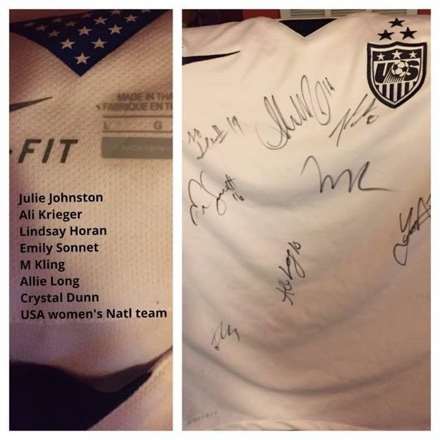 usa womens soccer jersey signed
