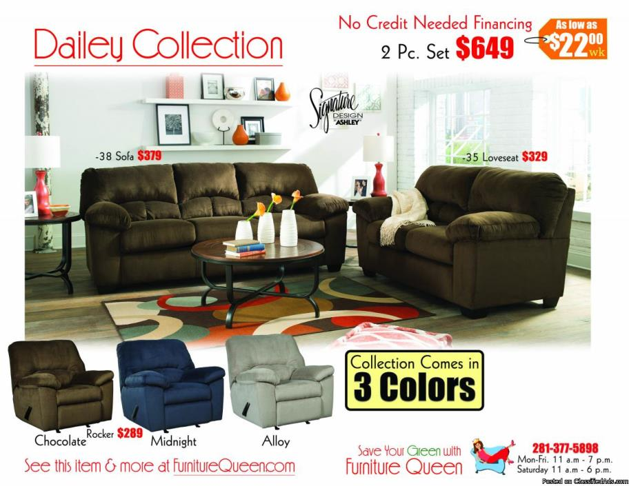Dailey Chocolate Sofa Sets! Ashley Furniture