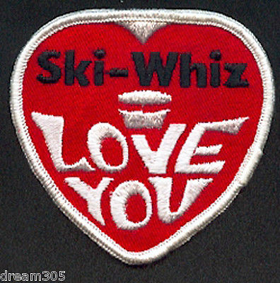 Vintage SKIWHIZ 1970's SKI WHIZ Snowmobile Patch Crest for Jacket Hat  #2!!