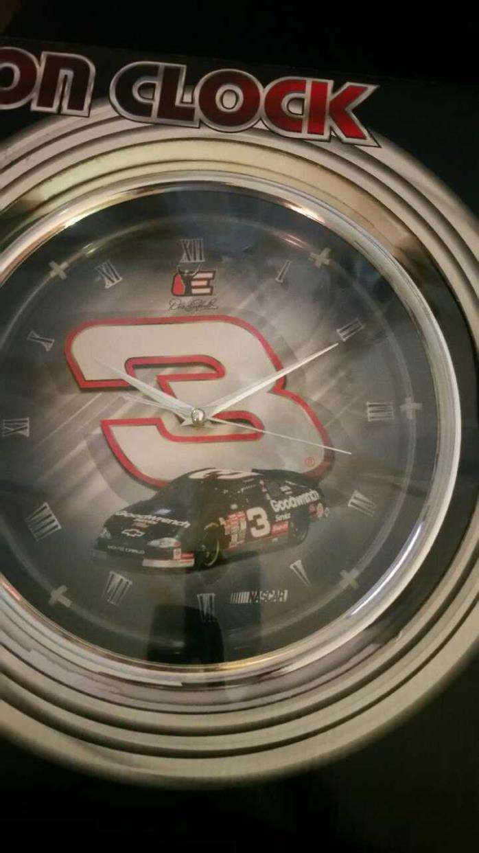 Dale Earnhardt neon clock