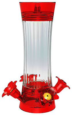 CLASSIC BRANDS LLC - Hummingbird Feeder, Fluted Glass, 10-oz.