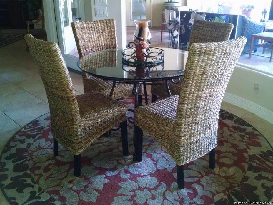 Chairs - Set of 4 Seagrass Chairs - $60 each
