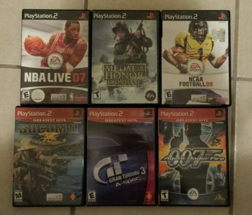 Playstation 2 Lot Of 6 Games for PS2