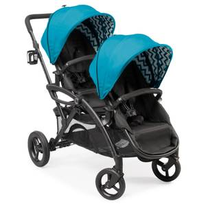 Great Double Stroller for Twins - Contours Options Elite! (Waikiki)