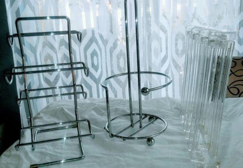 bundle wine holder/2 rack glass holder/paper towel holder