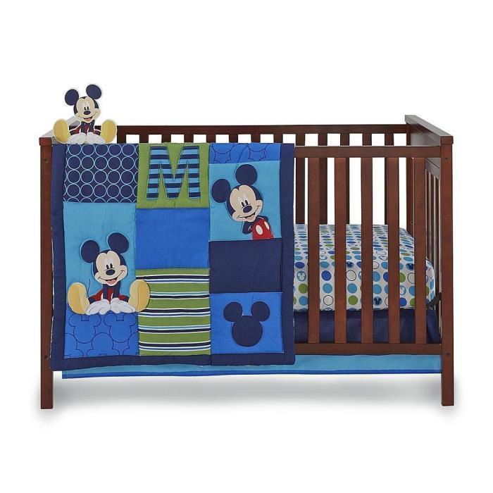 Disney Bedding Mickey Mouse Crib Nursery 4 Piece Set Infant Boys Warm