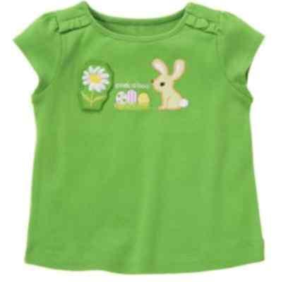 Gymboree DAFFODIL GARDEN peek a boo bunny  & duck short sleeve top 4 4T NWT