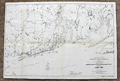 1911 Massachusetts Map Martha's Vineyard Nantucket Rhode Island Original Survey