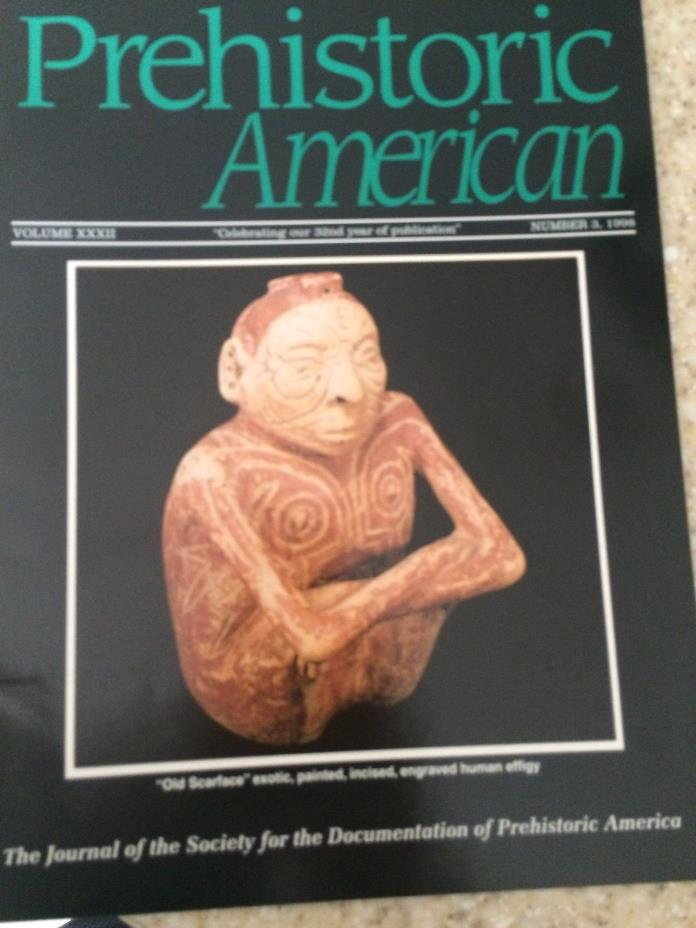 1998 #3  PREHISTORIC AMERICAN INDIAN ARTIFACTS BOOK HUMAN EFFIGY POT SCARFACE