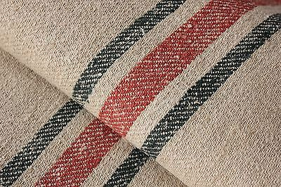 Antique GRAIN SACK vintage GRAINSACK old linen ORANGE stripe