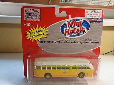 Mini Metals HO Lot of 2 Transits Shore Line Busses #32302