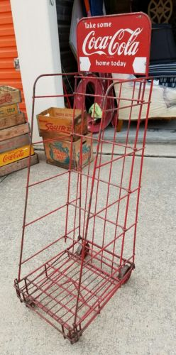 Coca-Cola Wooden Crate Display