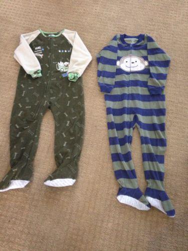 Boys Footie Pajamas Size 4T PJ's