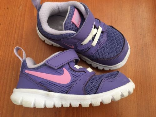 Nike Free RN Run Toddlers Infant Baby Sneakers Shoes Purple Pink  SIZE 6C