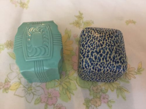 2 Vintage Antique Ring Box Lot