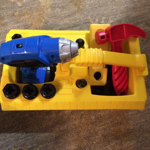 Fisher Price Drill And Drill Bits Hammer Tool Set