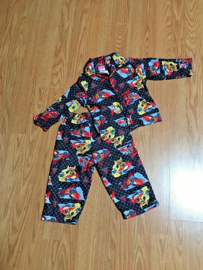 Disney Pixar Cars Boys Flannel  warm snugly PJ's 2T