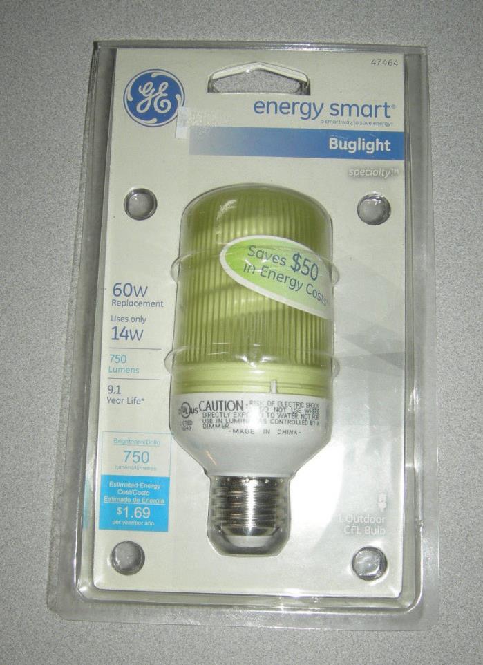GE Lighting 47464 Energy Smart CFL Bug Light 14-Watt (60-watt repl) 75O HOURS