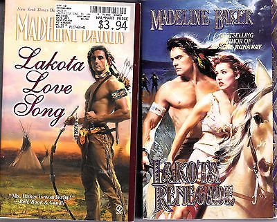 Lot of 2 Madeline Baker romance books / LAKOTA RENEGADE / LAKOTA LOVE SONG