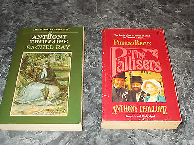 Anthony Trollope lot of 2 general fiction paperbacks