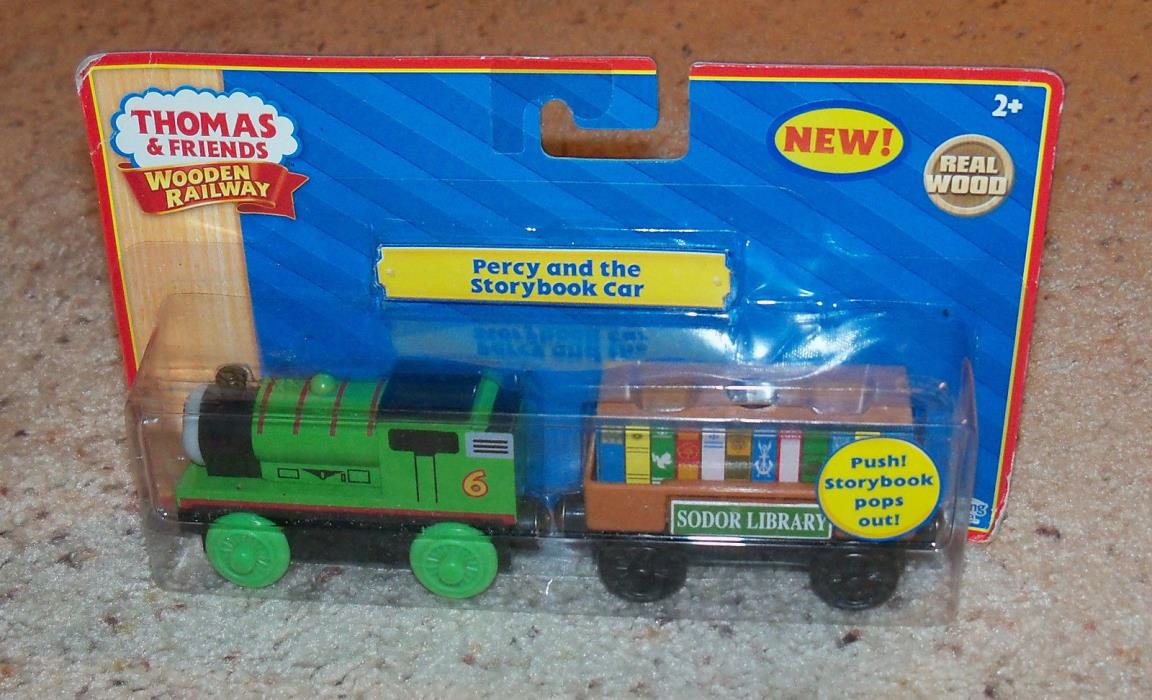 NEW IN BOX Thomas Train Wooden Percy Storybook Cargo, Wood Car Set
