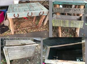 Clothes, furniture,grill, cooler, misc items (Boere)