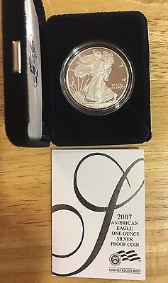 2007 American Silver Eagle Proof Coin in Original Mint Packaging