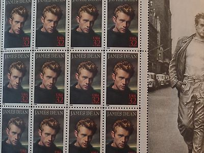 JAMES DEAN Full MINT Sheet of 20 US Postage stamps