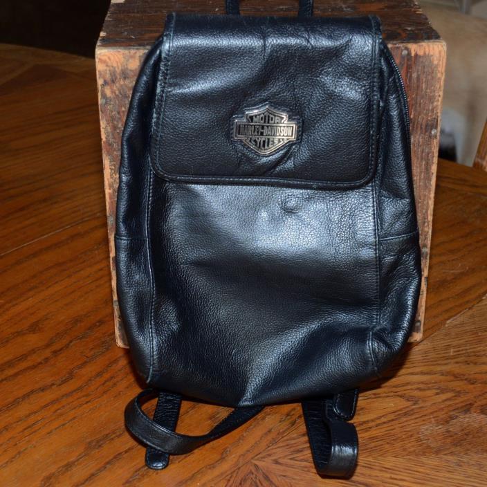 Harley Davidson Back Pack Leather Black