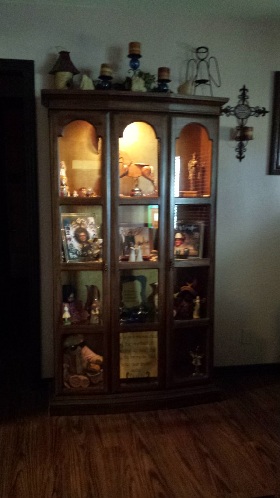 Dining room table and Curio cabnet